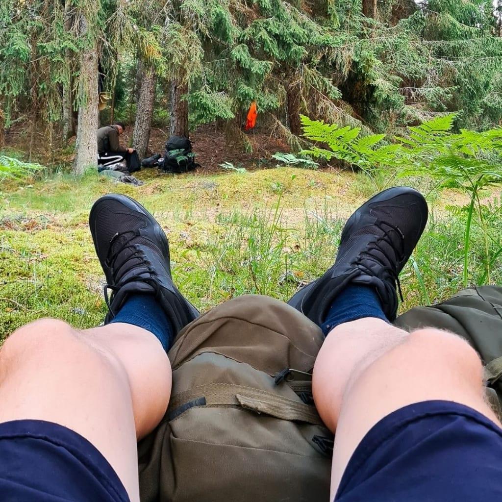 Adidas Terrex pārgājienu puszābaki. Nav ādas, kas nodrošina labu apava žūšanu, bet upurē ilgtermiņa izturību.